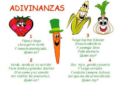 51 Adivinanzas Cortas De Frutas Y Verduras Con Respuestas