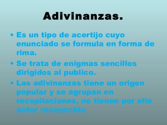 Definición, tipos y ejemplos de adivinanzas - Adivinanzas